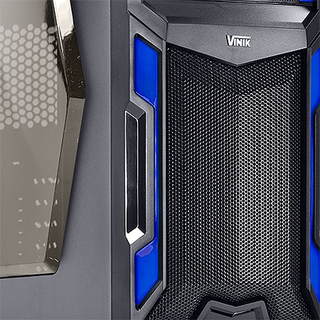 Gabinete ATX Gamer VS Typhoon Azul 22605 - Vinik