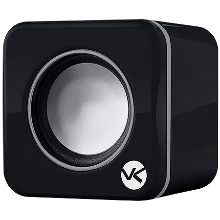 Caixa de Som 2.0 USB 6W RMS (2x3W) VS-101 Preta 17350 - Vinik