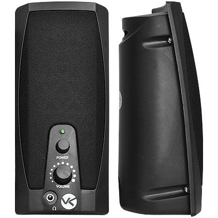 Caixa de Som 2.0 USB 2W RMS VS-201 Preta 16776 - Vinik