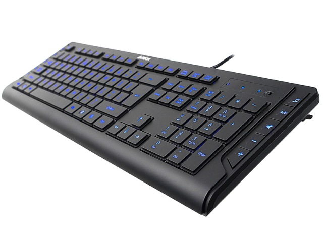 Teclado Multimídia Led Lighting USB KD-600L - A4tech