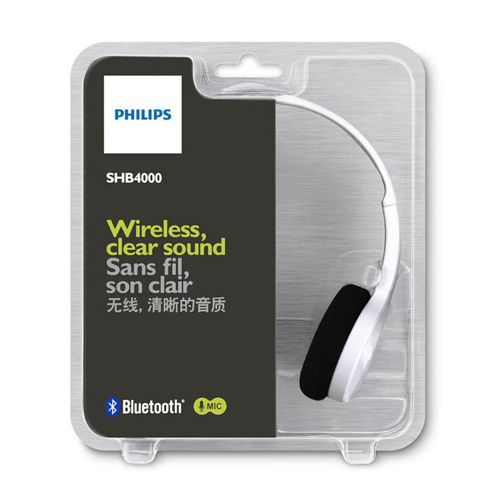 Fone de Ouvido SHB4000WT/00 Headset est�reo Bluetooth Branco - Philips
