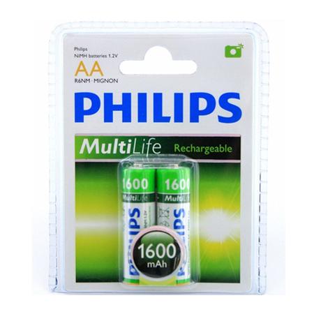 Pilha AA Recarreg�vel C/2 und 1.2V 1600mAh R6B2A160/97 - Philips