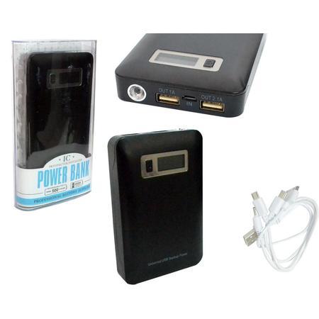Carregador Portátil Universal USB 5V Powerbank 15000mAh Preto AD0229B - IC