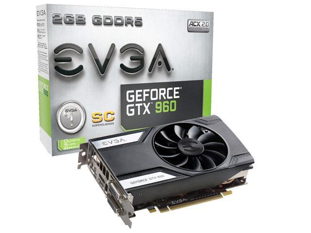 Placa de V�deo Geforce GTX960 SC 2GB 128Bit 02G-P4-2962-KR - EVGA