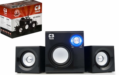 Subwoofer 2.1 SP-222BS 8W RMS 110v - C3tech