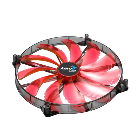 Cooler FAN Silent Master LED Red 200mm Sleeve EN55659 - Aerocool