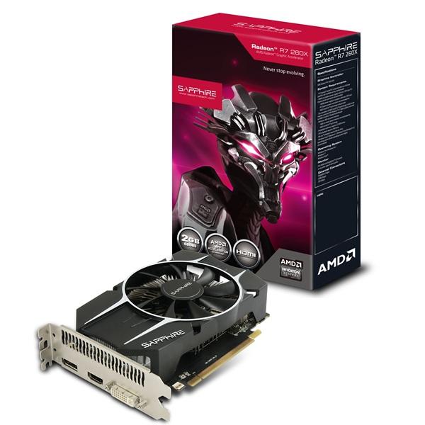 Placa de Vídeo Radeon R7 260X 2GB DDR5 128Bit 11222-06-20G - Sapphire