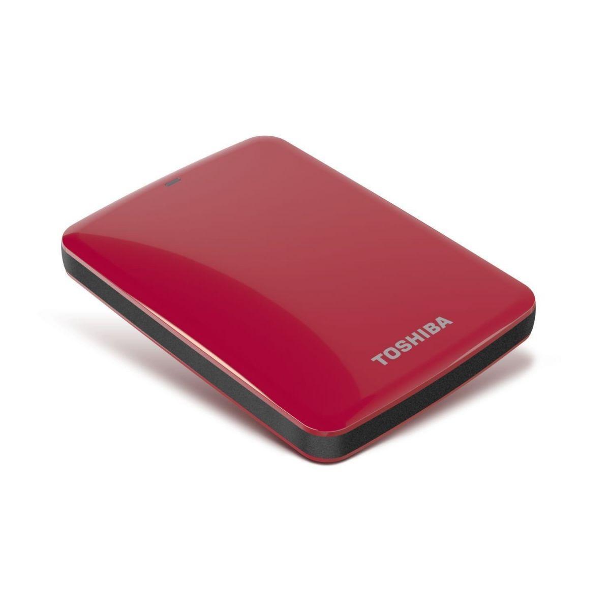 Hard Disk Externo 1TB Canvio Connect HDTC710XR3A1 Vermelho - Toshiba