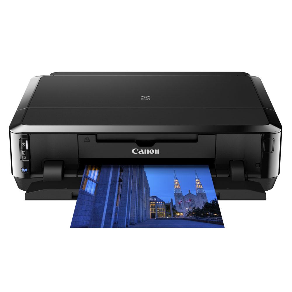 Impressora Jato de Tinta Impressão Frente e Verso Automático, Imprime em CD/DVD, WI-FI/Air Print IP7210 Preto - Canon