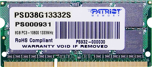 Memória de Notebook 8GB 1333Mhz DDR3 PSD38G13332S - Patriot