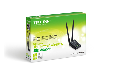 Adaptador USB Wireless de Alta Pot�ncia de 300Mbps TL-WN8200ND - Tplink
