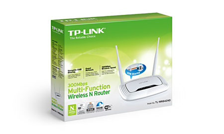Roteador Wireless N Multi-Funcional 300Mbps TL-WR842ND C/USB - Tplink