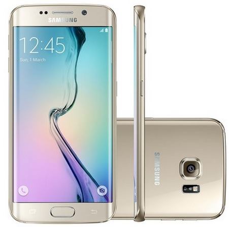 Smartphone Galaxy S6 Edge G925I, Proc Octa Core 1.8Ghz, Android 5.0, Tela Super Amoled 5.1, 64GB, Câmera 16MP, 4G Dourado - Samsung