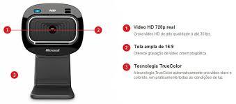 Wecam Lifecam HD-3000 USB 720p- Preta T3H-00011 - Microsoft
