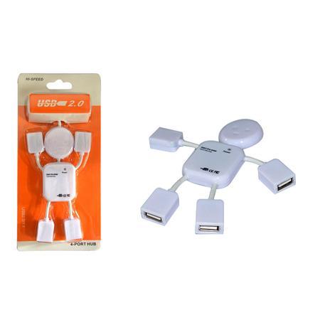 Hub USB Boneco 4 Saídas 2.0 HUB0013 - OEM
