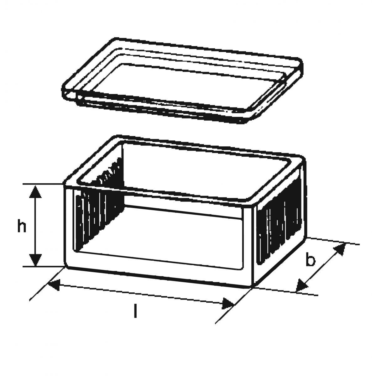 Cuba de vidro forma baixa com tampa horizontal para 8 lâminas  - loja.laborglas.com.br