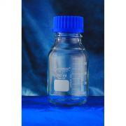 Frasco Reagente com Rosca com Tampa de Rosca e Anel antigota Azul
