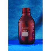Frasco Reagente com Rosca Âmbar com Tampa de Rosca e Anel antigota Azul em PP