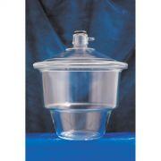 Dessecador de vidro com tampa e luva
