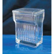 Cuba de Vidro Forma Alta com tampa vertical para 8 laminas