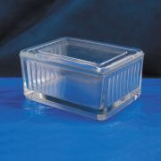 Cuba de vidro forma baixa com tampa horizontal para 8 lâminas