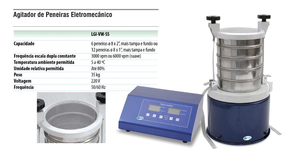 Agitador de Peneiras Eletromecânico  - loja.laborglas.com.br