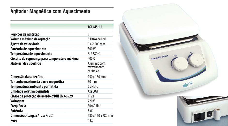 Agitador Magnético com Aquecimento  - loja.laborglas.com.br