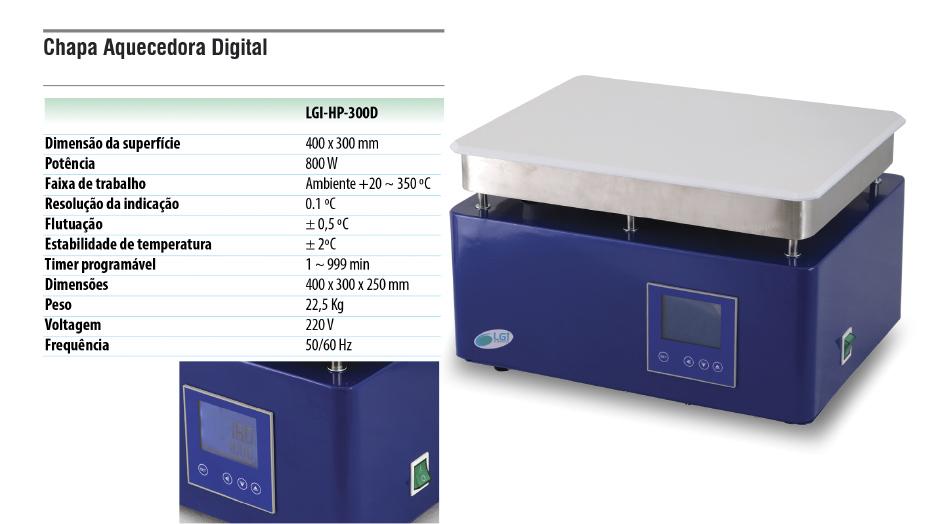 Chapa Aquecedora Digital  - loja.laborglas.com.br