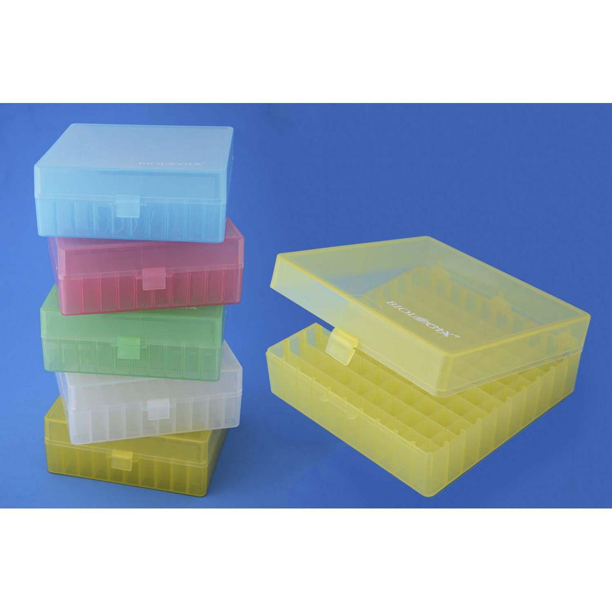 Caixa de polipropileno para MIcrotubos criogênicos 100 tubos  - loja.laborglas.com.br