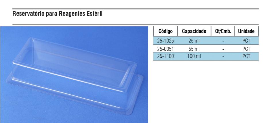 Reservatório para reagentes estéril  - loja.laborglas.com.br