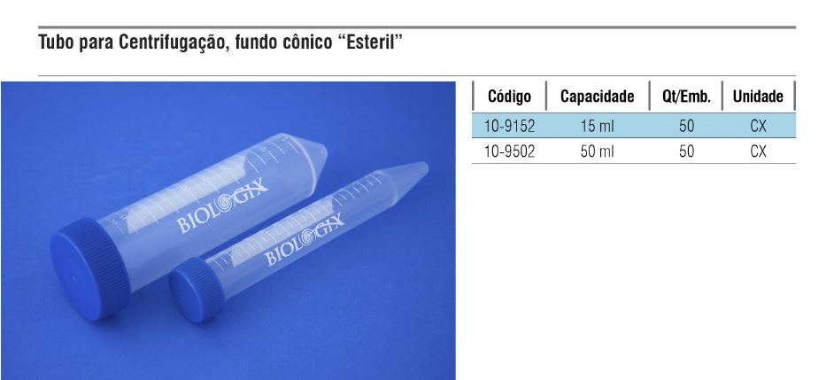 Tubo para centrifugação com fundo cônico estéril  - loja.laborglas.com.br