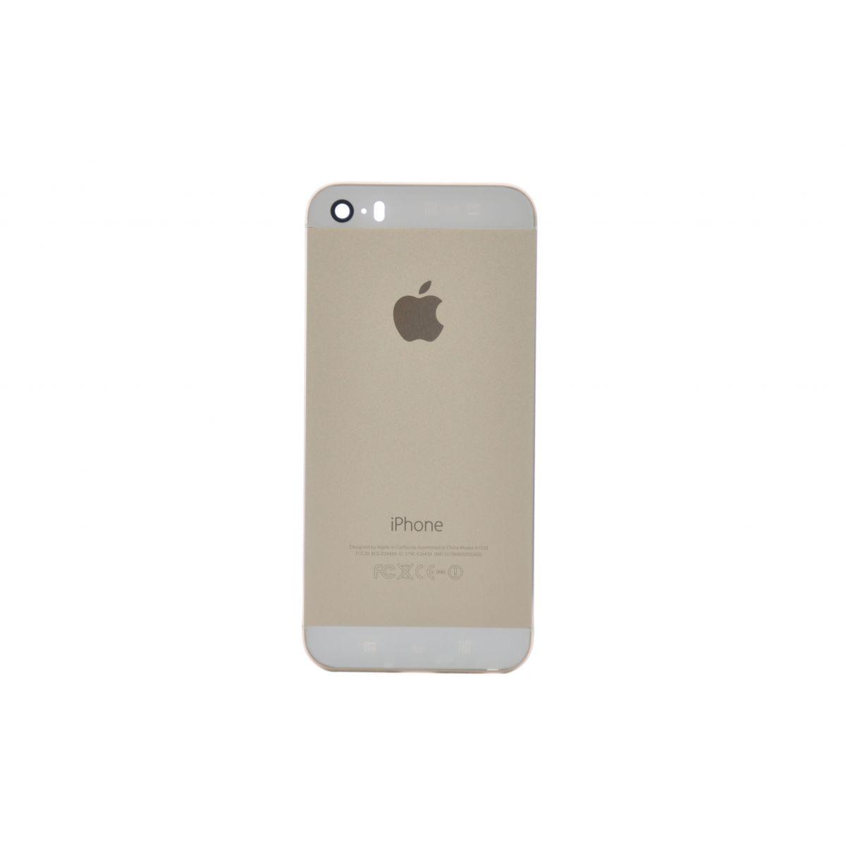 Carcaca Apple Iphone 5s Dourado Acompanha Componentes. Nao Incluso Cabos Flex