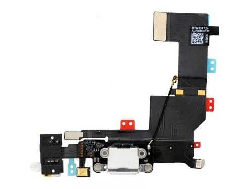 Cabo Flex Conector Carga Usb Fone Microfone Antena Apple Iphone 5s Preto
