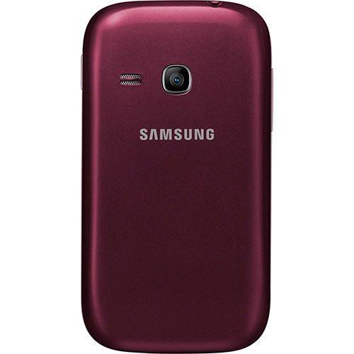 Tampa Traseira da Bateria Samsung Galaxy Young Duos Tv S6313 Vinho Vermelho