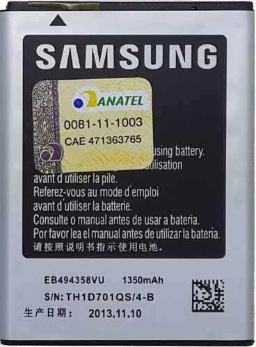 Bateria Samsung Galaxy Young Duos Gt-S6313 EB464358VU AAA