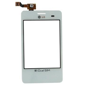 Tela Touch LG Optimus L3 Dual E405 Branco - 1ª Linha