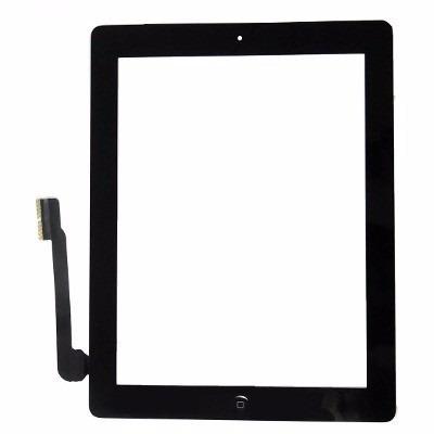 Tela Touch Apple Ipad 3 e 4 Com Botao Home Preto