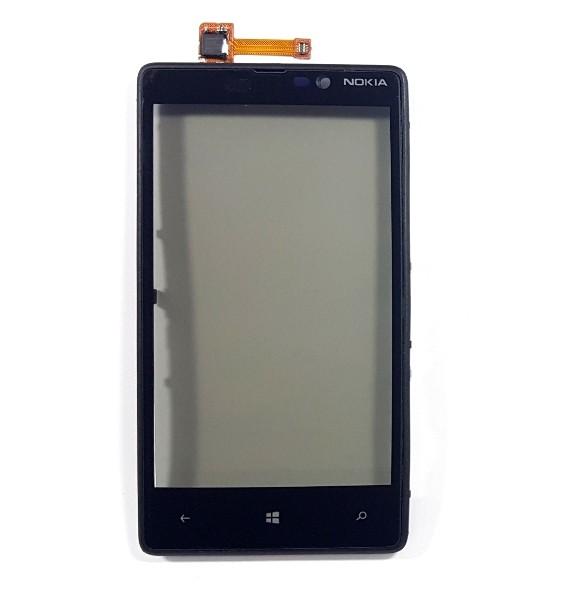 Touch Nokia Lumia 820 Preto com Aro 1 Linha