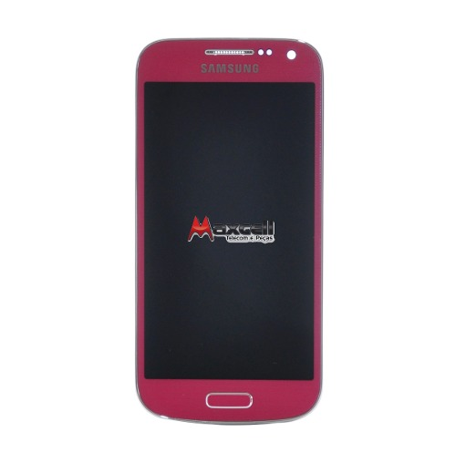 Frontal Touch com Lcd Samsung Galaxy S4 Mini Gt-I9191 I9192 Pink Rosa