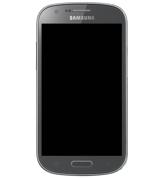 Frontal Samsung Galaxy I8730 Express Preto