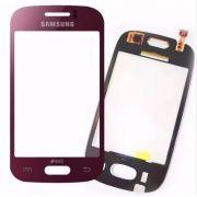 Tela Touch Samsung Galaxy Y Duos Tv GT S6313 Vinho Vermelho - 1ª Linha