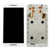 Display Lcd Com Tela Touch Moto X Play  Xt1562 Xt1563 Branco Com Aro