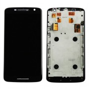 Display Lcd Com Tela Touch Moto X Play  Xt1562 Xt1563 Preto Com Aro