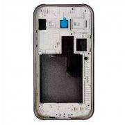 Carcaça com Aro  Samsung Galaxy J1 Ace J110 Branco