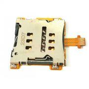 Leitor Chip Sim Flex Card Sony Xperia M4 Aqua E2363 Conector Slot