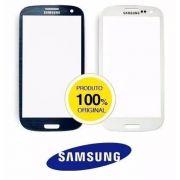 Vidro Lente Galaxy S3 Mini I8190 Azul e Branca