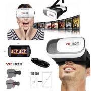 Óculos Realidade Virtual Google Cardboard VRBOX + Controle + Sensação 3D
