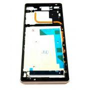 Aro Lateral Sony Xperia Z3 Dual Tampas Usb Branco