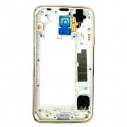 Aro Lateral Samsung SM-G900M S5 Gold Branco Original
