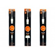 Kit 25 Cabos Usb PMCELL: 10X IP5 Solid 601, 10 V8 Solid 603, 5X iPhone 4 Solid 602
